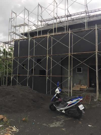 台中李大哥蓋房屋豪宅 泥作吊線及粗底