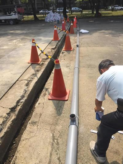 台中軍營 道路裝修 灌漿泥作工程