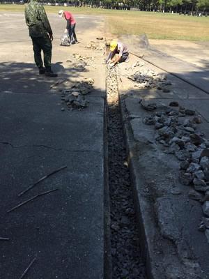 台中軍營道路修繕 道路整修