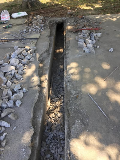 台中軍營 道路裝修 灌漿泥作工程-房屋裝修